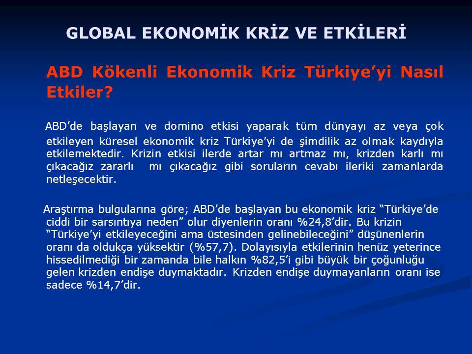ABD Kökenli Ekonomik Kriz Türkiye'yi Nasıl Etkiler.