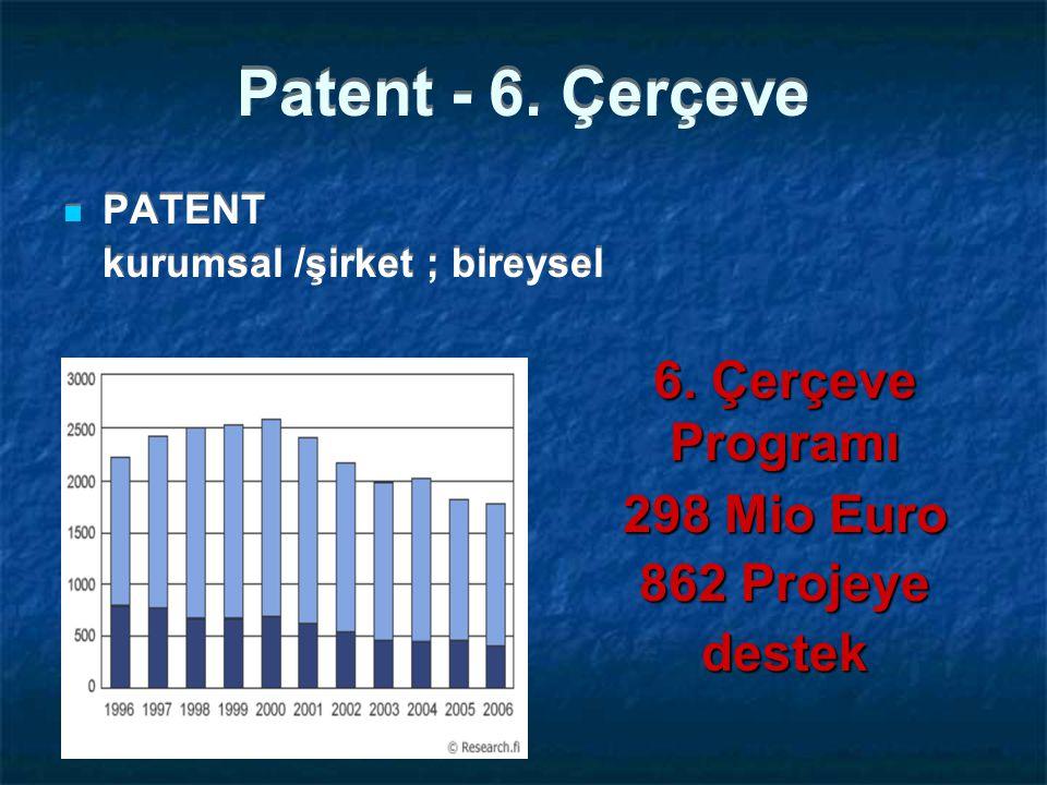 Patent - 6.Çerçeve PATENT kurumsal /şirket ; bireysel PATENT kurumsal /şirket ; bireysel 6.