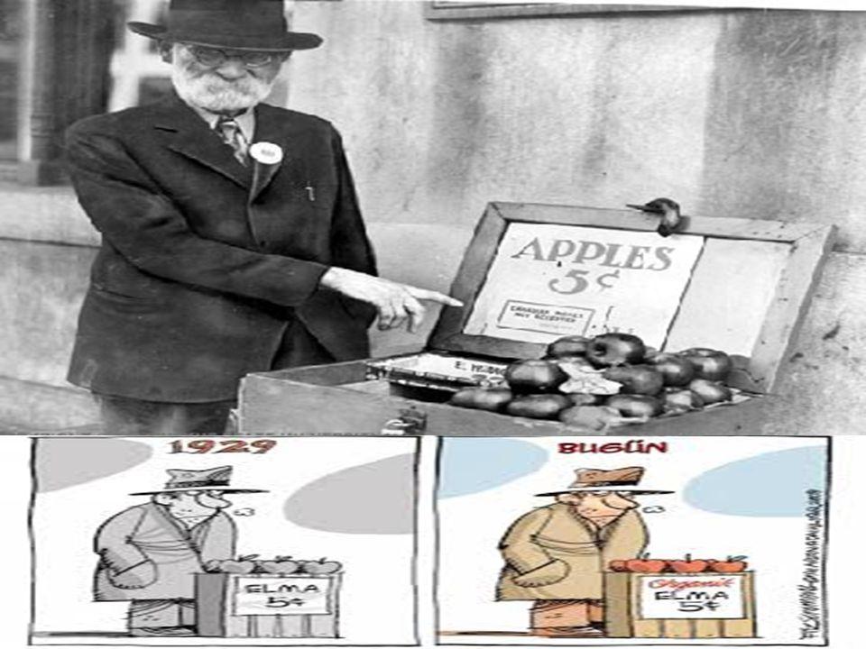 1929 EKONOMIK KRİZİNİN ORTAYA ÇIKIŞI VE NEDENLERİ  Krizin nedenlerini sıralayacak olursak; menkul kıymetler borsasının çöküşü, bankalardaki panik kaynaklı nakit sıkıntısı; sıkı para politikası uygulamaları ve Altın Standardı nı sürdürmek zorunda olması nedeniyle Amerikan Merkez Bankası'nın gerekli tepkiyi zamanında verememesi sonucunda nakit sıkışıklığının artması; son olarak uluslararası ticaret ve borç ilişkilerinin yapısıdır.
