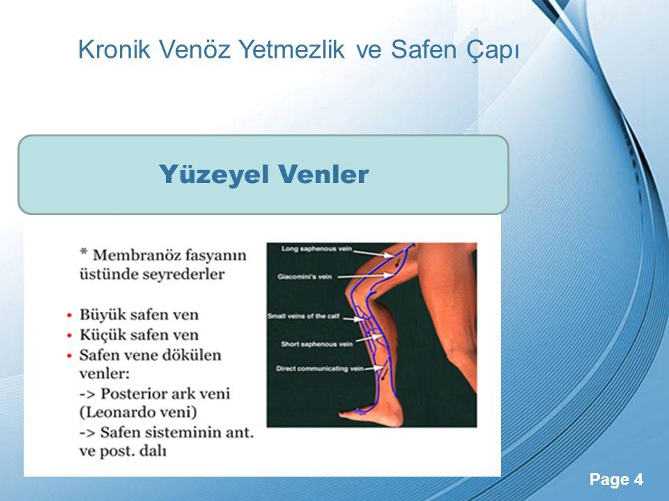 Powerpoint Templates Page 25 Kronik Venöz Yetmezlik ve Safen Çapı Venöz Klinik Şiddet Seviye Skoru