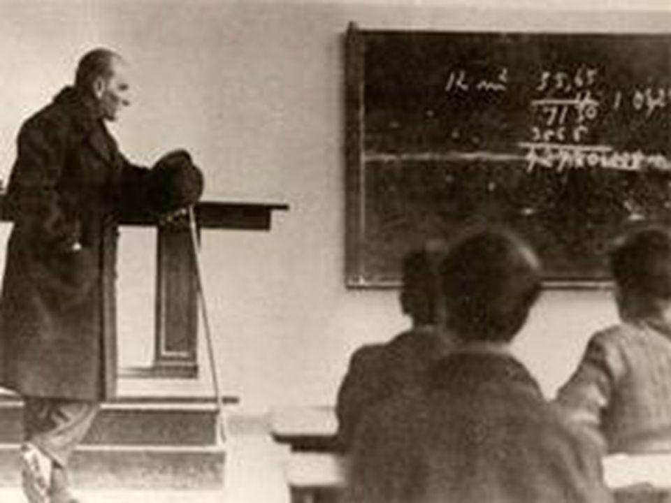 ATATÜRK'ÜN GEOMETRIYE KATKıSı  Türk Dil Kurumu başuzmanı olan ve kendisine Mustafa Kemal tarafından Dilaçar soyadı verilen Agop Dilaçar a göre; Geometri kitabını Atatürk, ölümünden bir buçuk yıl kadar önce, 1936 - 1937 yılı kış aylarında Dolmabahçe sarayında kendi elleriyle yazmıştır.