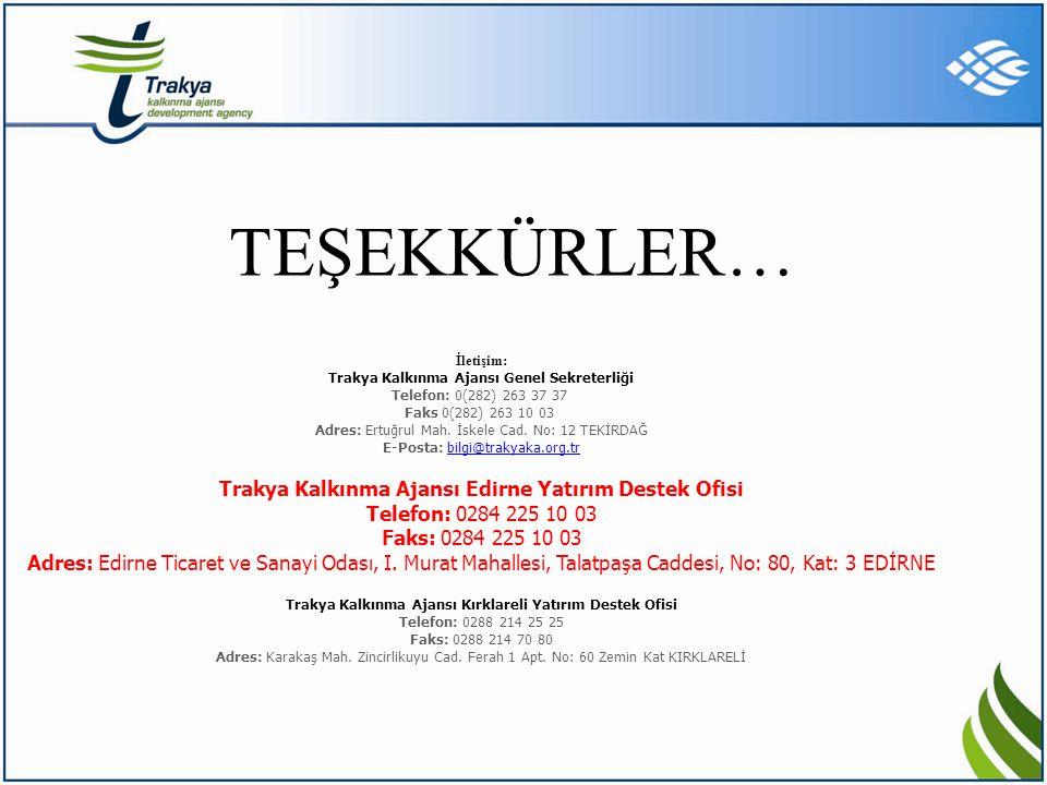 MEHMET GÖKAY ÜSTÜN TEŞEKKÜRLER… İletişim: Trakya Kalkınma Ajansı Genel Sekreterliği Telefon: 0(282) 263 37 37 Faks 0(282) 263 10 03 Adres: Ertuğrul Ma
