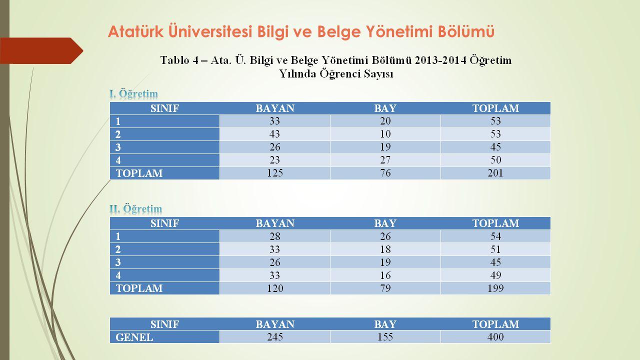 2011-2012 öğretim yılından itibaren Bilgi ve Belge Yönetimi Anabilim Dalı çatısı altında yüksek lisans programına başlanılmıştır.