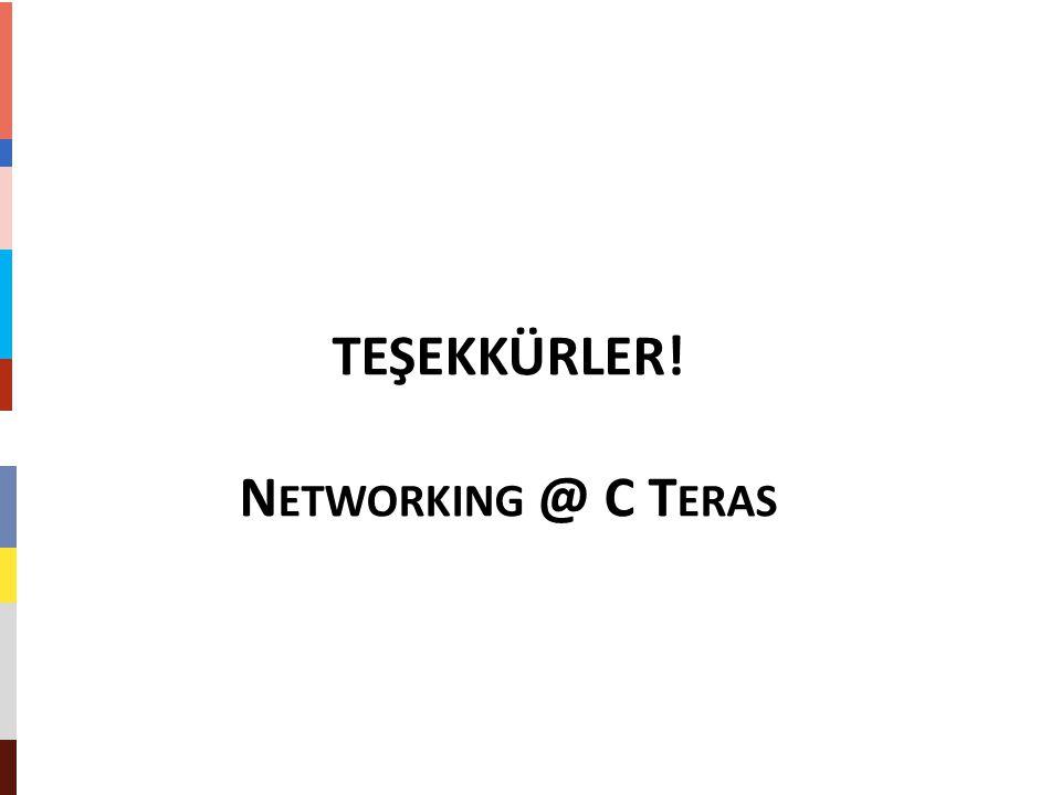 TEŞEKKÜRLER! N ETWORKING @ C T ERAS