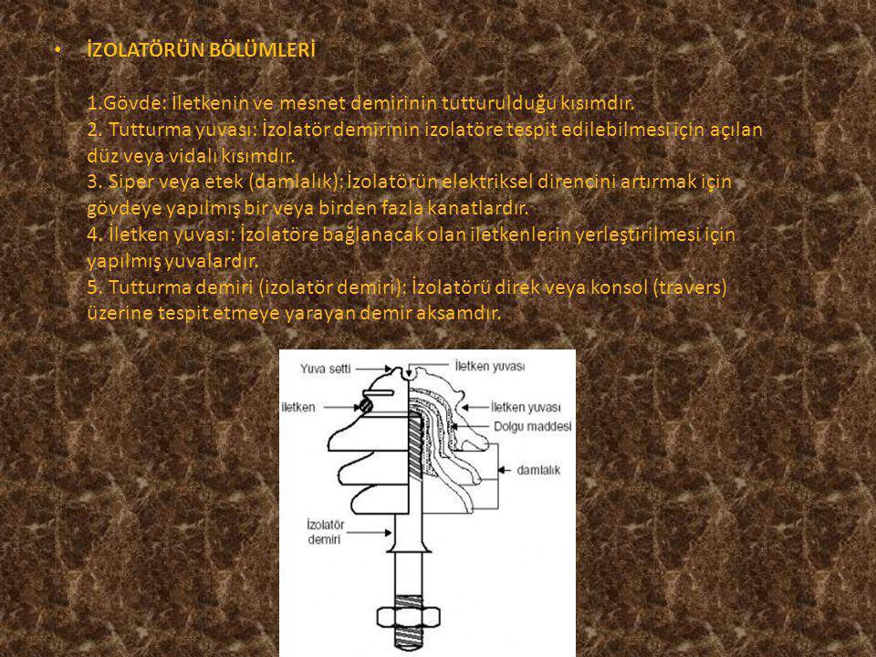 Zincir İzolatör VHD Tipi izolatör Askı takım ile beraber zincir izolatör Parafudur Alçak gerilim fincan izolatör