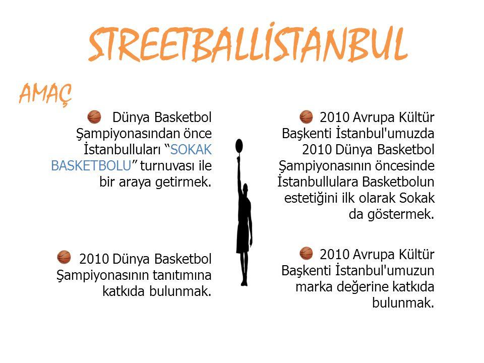 """Dünya Basketbol Şampiyonasından önce İstanbulluları """"SOKAK BASKETBOLU"""" turnuvası ile bir araya getirmek. 2010 Dünya Basketbol Şampiyonasının tanıtımın"""