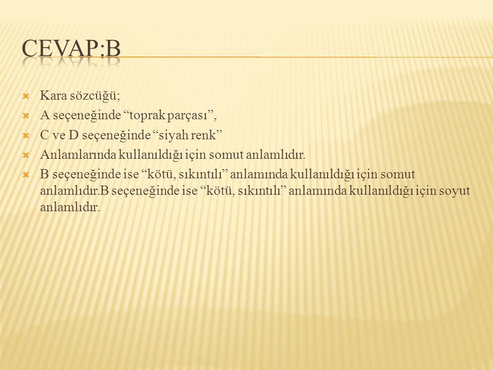  Aşağıdaki cümlelerin hangisinde nicelik bildiren bir sözcük kullanılmıştır.