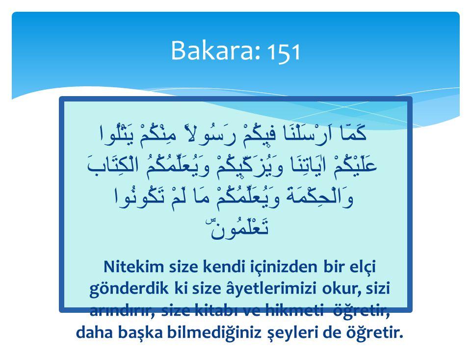  «Size bilmediklerinizi öğretir»  Ümeyye b.Abdullah b.