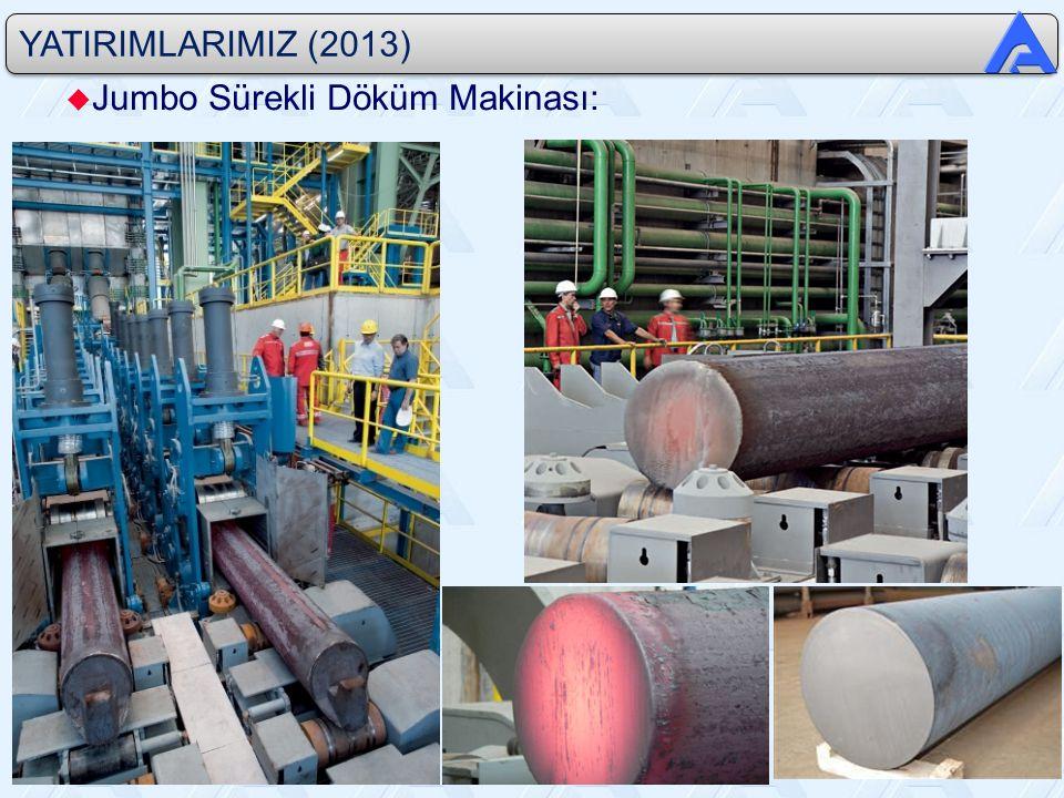YATIRIMLARIMIZ (2013) u Jumbo Sürekli Döküm Makinası:
