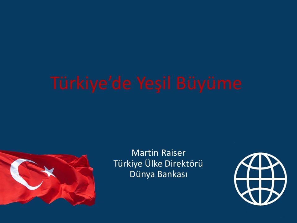 Türkiye'de Yeşil Büyüme Martin Raiser Türkiye Ülke Direktörü Dünya Bankası