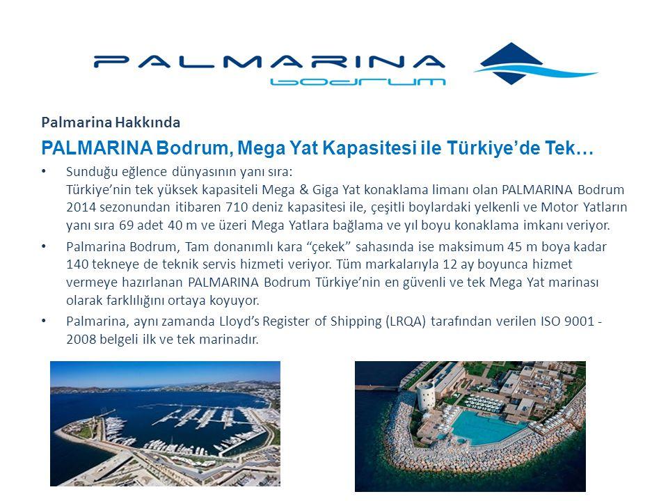 Palmarina Hakkında PALMARINA Bodrum, Mega Yat Kapasitesi ile Türkiye'de Tek… Sunduğu eğlence dünyasının yanı sıra: Türkiye'nin tek yüksek kapasiteli M