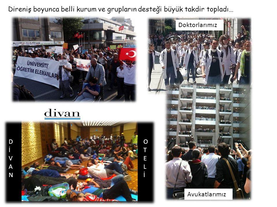 Ancak bir grup vardı ki Direnişin umudu oldular, Beşiktaş Çarşı idi onlar.