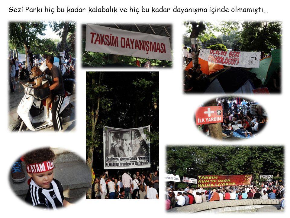 Gezi Parkı hiç bu kadar kalabalık ve hiç bu kadar dayanışma içinde olmamıştı… DİVANDİVAN OTELİOTELİ