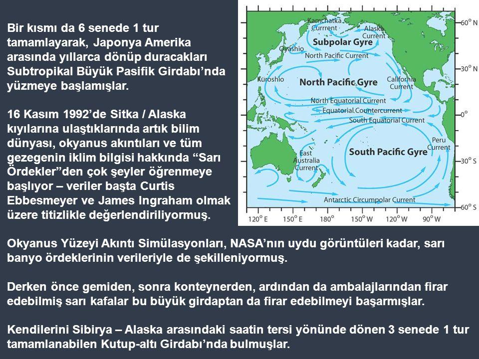 Büyük Pasifik Çöp Bölgesi'nde Pasifik Okyanusu'nun kuzeyinde, Asya ile Amerika arasında Büyük Pasifik Girdabı varmış. Bu girdapta Türkiye'nin yüzölçüm