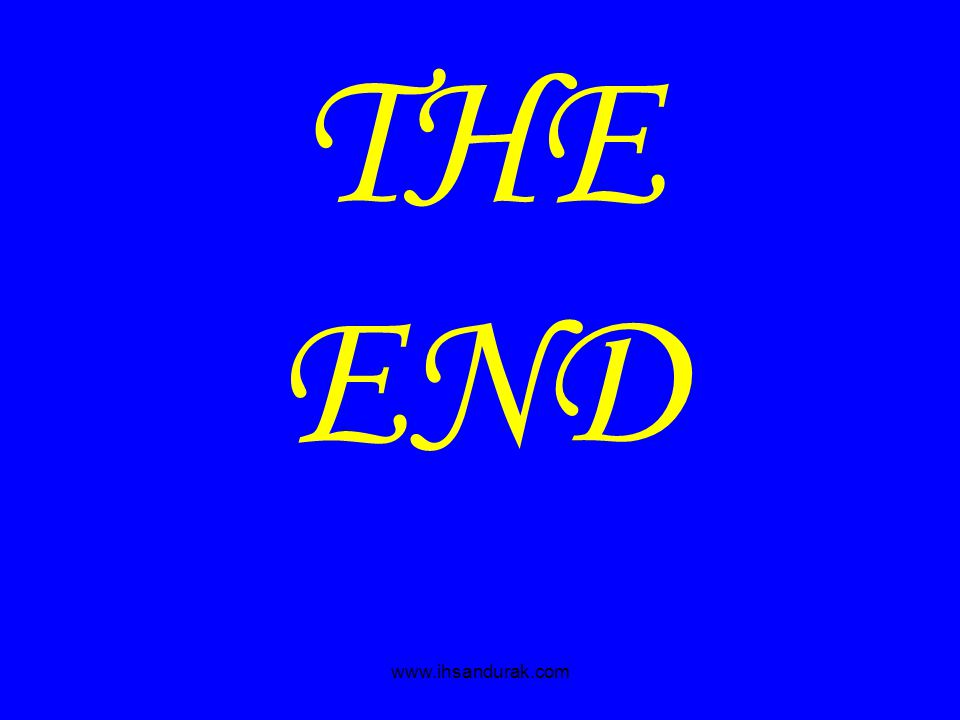 www.ihsandurak.com THE END