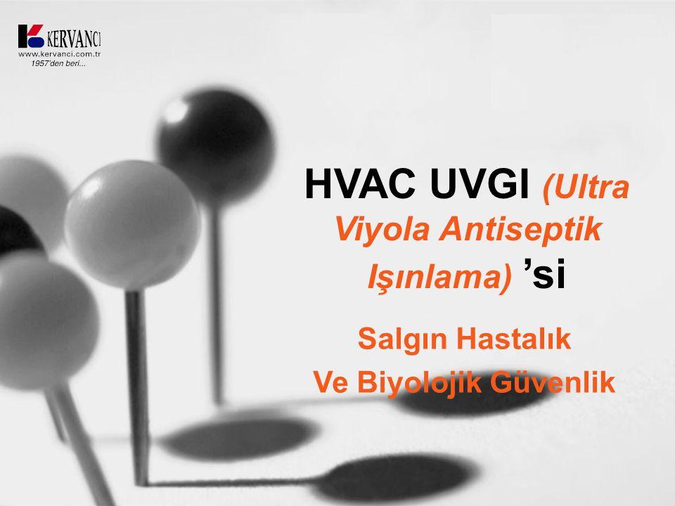 HVAC UVGI (Ultra Viyola Antiseptik Işınlama) 'si Salgın Hastalık Ve Biyolojik Güvenlik