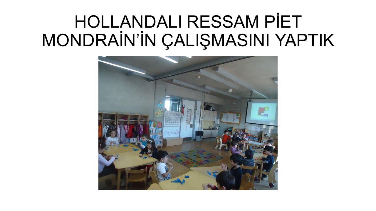 HOLLANDALI RESSAM PİET MONDRAİN'İN ÇALIŞMASINI YAPTIK