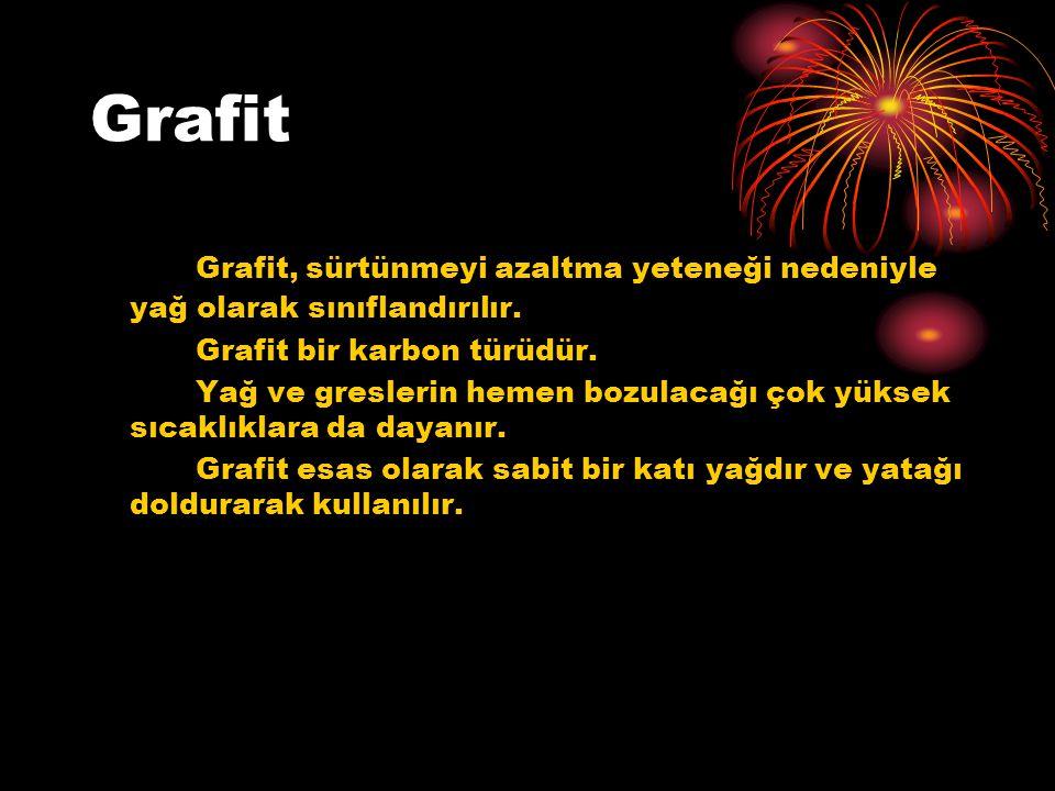 Grafit Grafit, sürtünmeyi azaltma yeteneği nedeniyle yağ olarak sınıflandırılır.