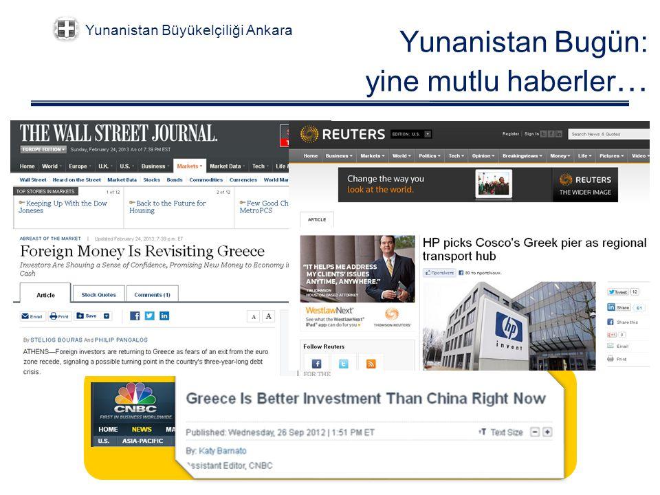 Yunanistan Bugün: yine mutlu haberler … Yunanistan Büyükelçiliği Ankara