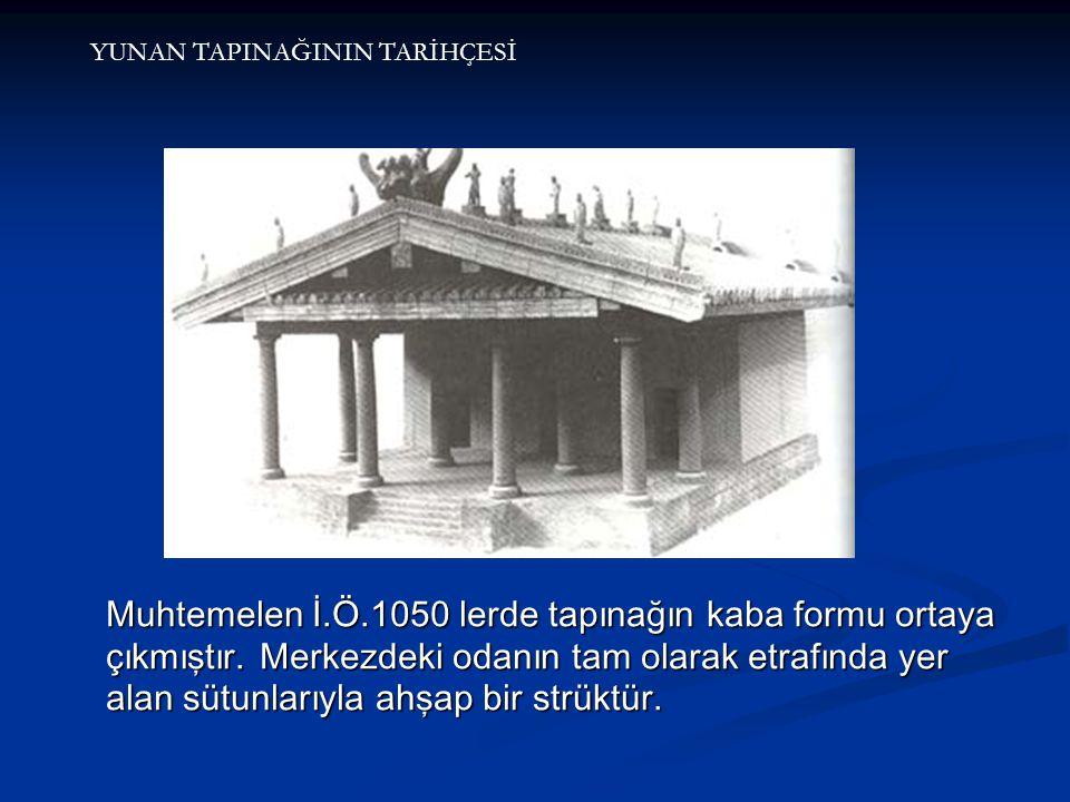 Muhtemelen İ.Ö.1050 lerde tapınağın kaba formu ortaya çıkmıştır.