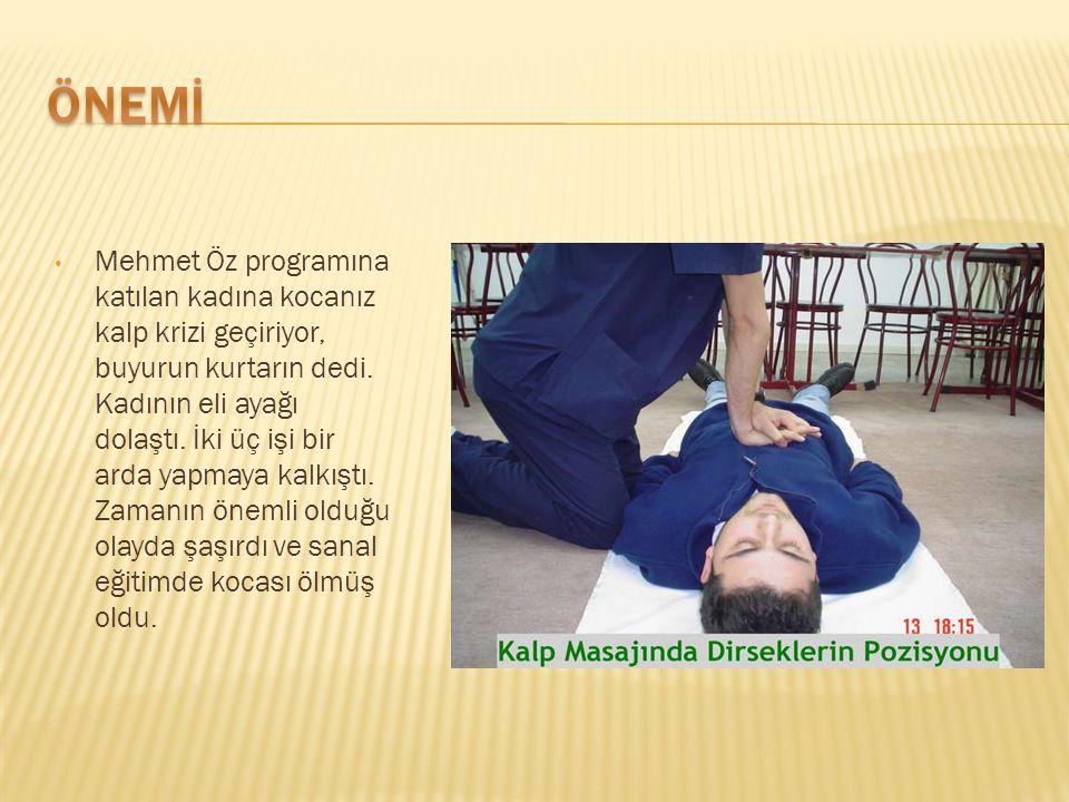 Mehmet Öz programına katılan kadına kocanız kalp krizi geçiriyor, buyurun kurtarın dedi.