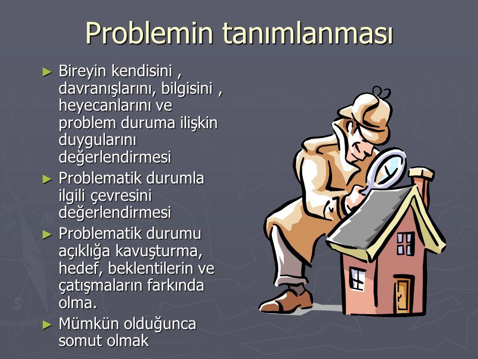 Problemi tanımlarken; ► Bu durum sadece sizin için mi problem yoksa başkaları da bunu problem olarak mı görüyor.