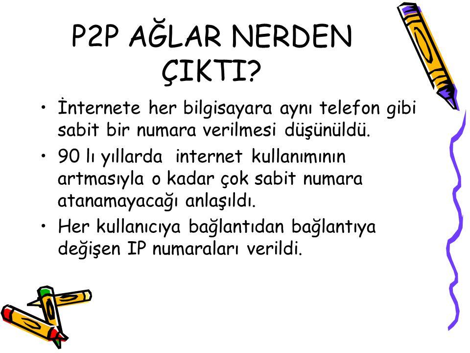 P2P AĞLAR NERDEN ÇIKTI.