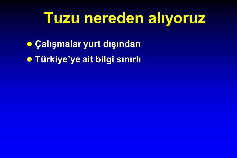 Tuzu nereden alıyoruz l Çalışmalar yurt dışından l Türkiye'ye ait bilgi sınırlı