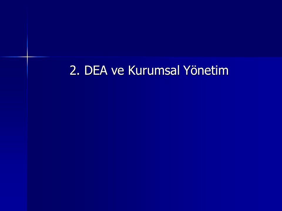 2. DEA ve Kurumsal Yönetim