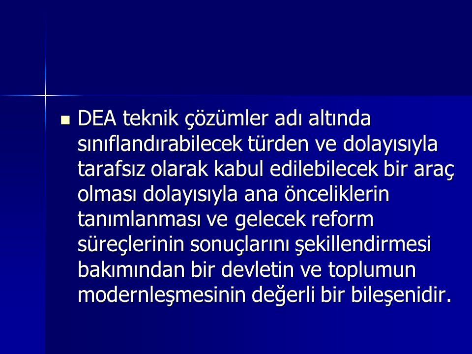DEA etkin olarak kullanıldığında bir demokrasi aracıdır Corporatist kültürün gelişmesine büyük rolü olabilecektir.