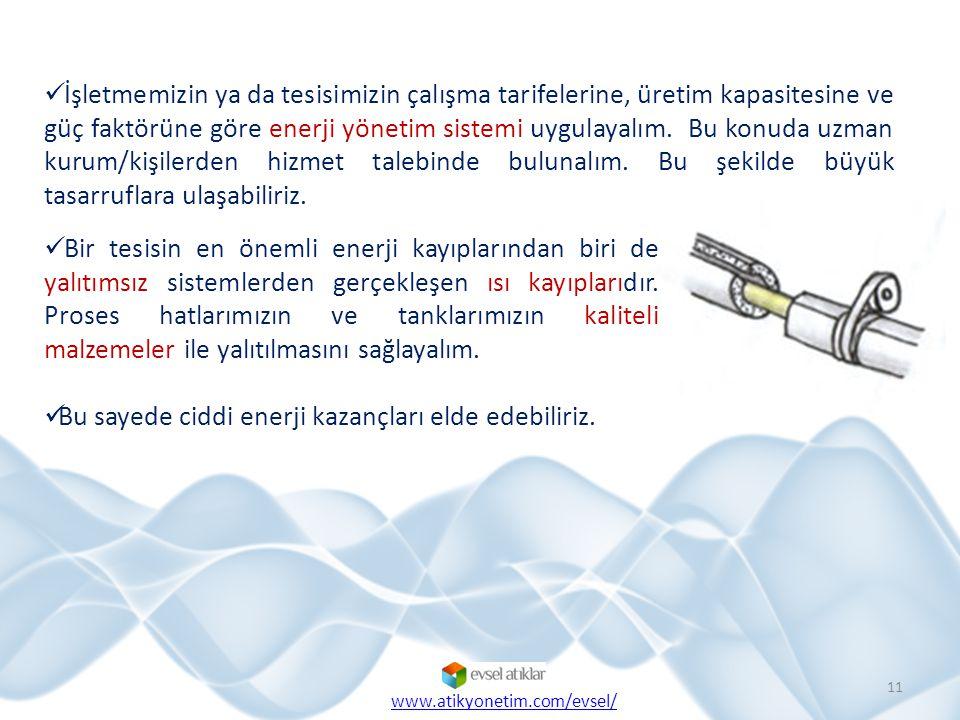İşletmemizin ya da tesisimizin çalışma tarifelerine, üretim kapasitesine ve güç faktörüne göre enerji yönetim sistemi uygulayalım.
