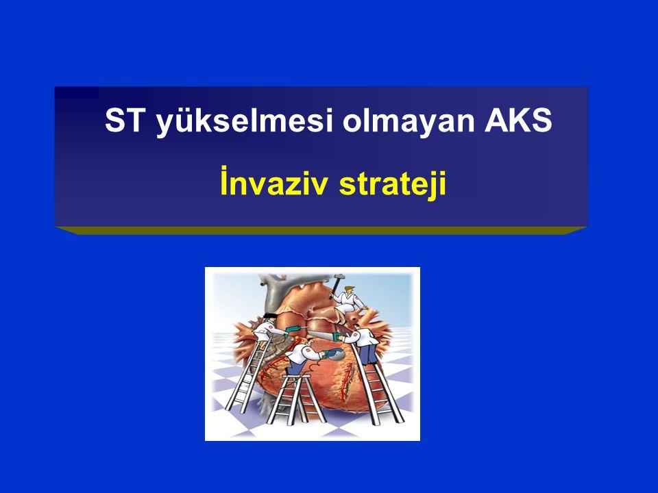 ST yükselmesi olmayan AKS İnvaziv strateji