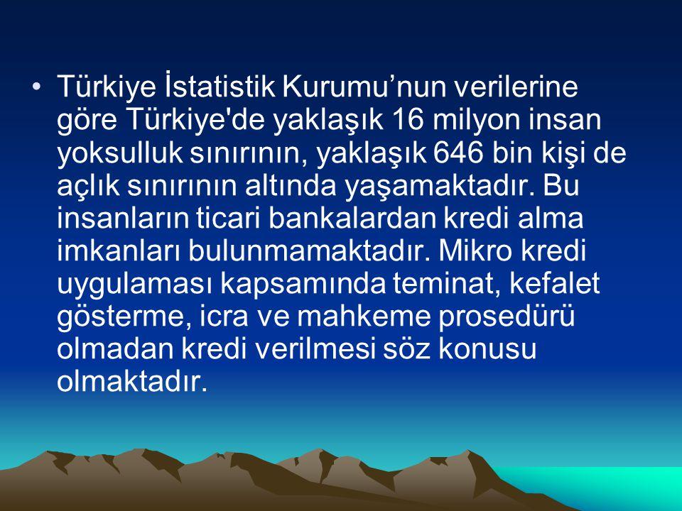 Türkiye İstatistik Kurumu'nun verilerine göre Türkiye'de yaklaşık 16 milyon insan yoksulluk sınırının, yaklaşık 646 bin kişi de açlık sınırının altınd