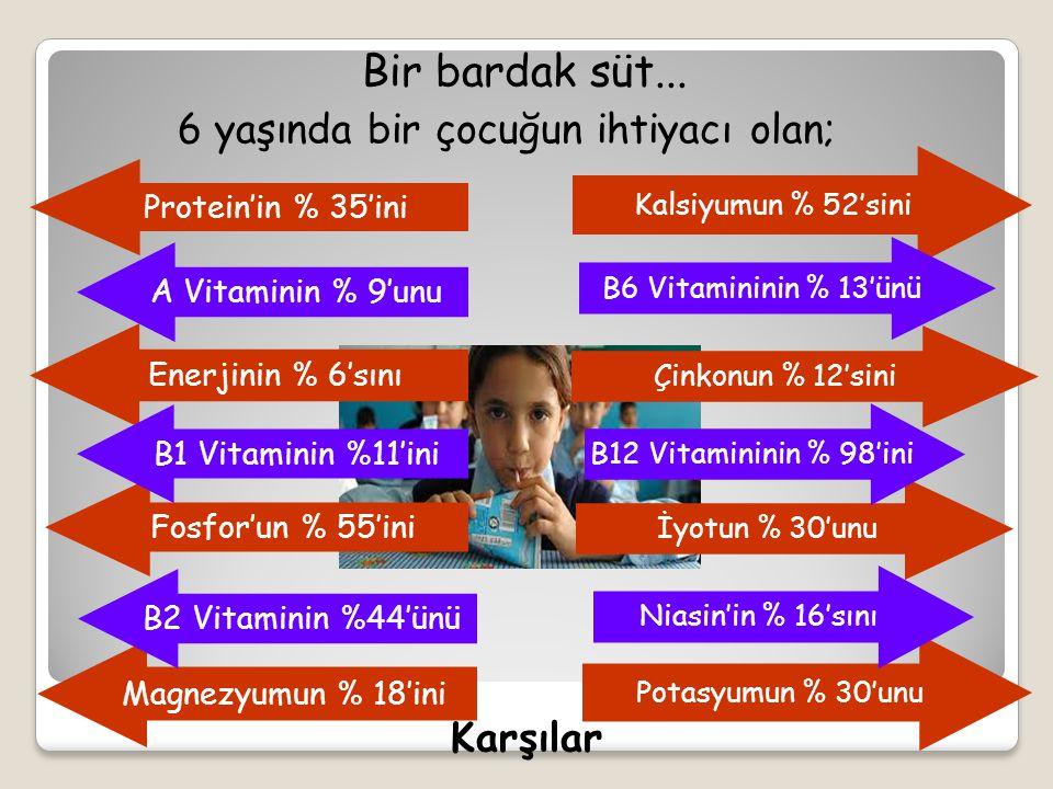 Çocukluk ve Ergenlik Döneminde Yetişkin ve Yaşlılık Döneminde Gebelik ve Emziklilik Döneminde Güçlü kemik ve dişlerin oluşmasında, Kemik yoğunluğunu artırır, Büyüme ve gelişmeye yardım eder Kemik sağlığının korunması, Vücudun ihtiyaç duyduğu protein, kalsiyum, fosfor B2 ve ve B12 vitaminlerinin önemli kaynağıdır.