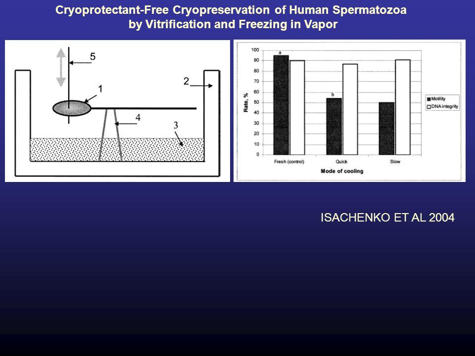 ISACHENKO ET AL 2004 Cryoprotectant-Free Cryopreservation of Human Spermatozoa by Vitrification and Freezing in Vapor