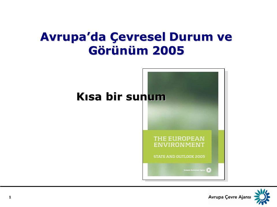1 Avrupa'da Çevresel Durum ve Görünüm 2005 Kısa bir sunum