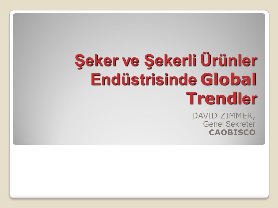 Şeker ve Şekerli Ürünler Endüstrisinde Global Trend ler DAVID ZIMMER, Genel Sekreter CAOBISCO