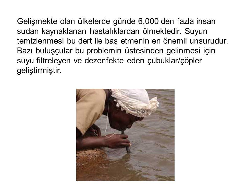 Gelişmekte olan ülkelerde günde 6,000 den fazla insan sudan kaynaklanan hastalıklardan ölmektedir.