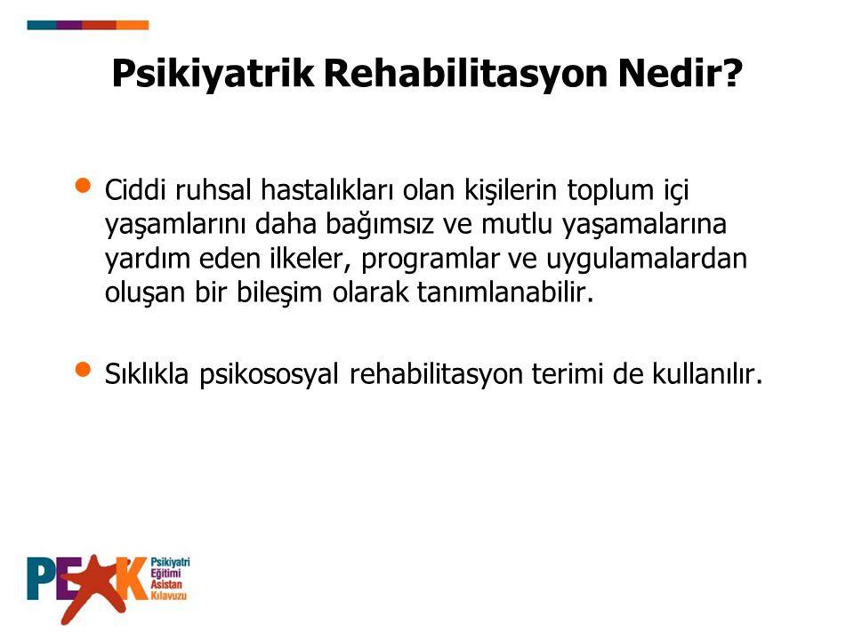 Psikiyatrik Rehabilitasyon Nedir.