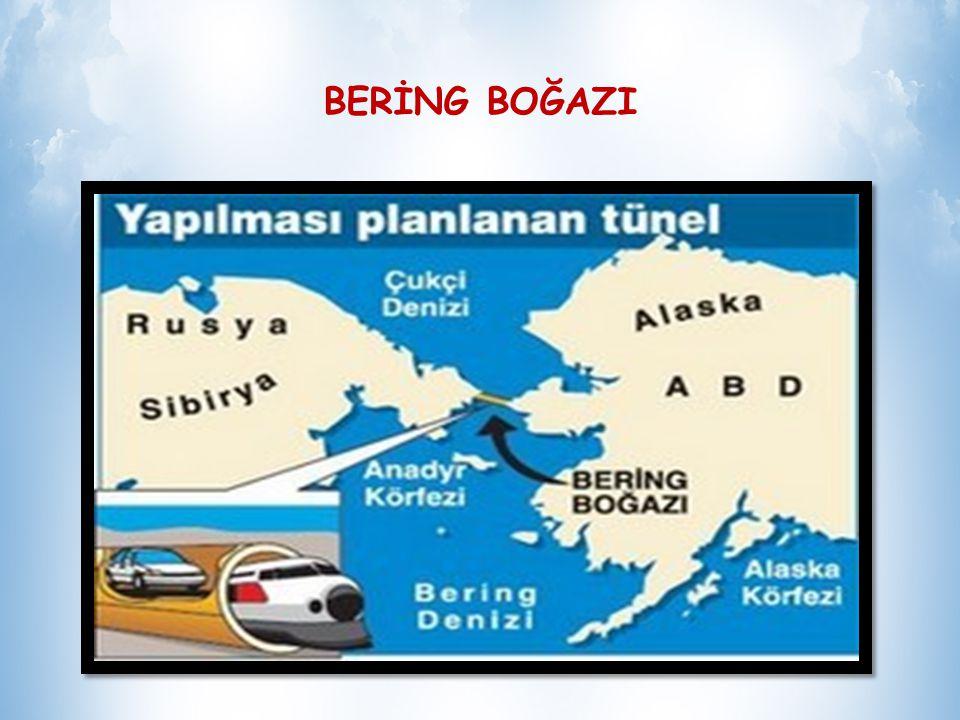 1648 yılında Semyon Dezhnev tarafından geçildiği kabul edilmesine rağmen; ismini boğazı 1728 yılında geçen Rus asıllı Danimarkalı kaşif Vitus Bering den almıştır BERİNG BOĞAZI Buzul çağı sırasında boğazın bir kara köprüsü vazifesi gördüğü bilinmektedir.