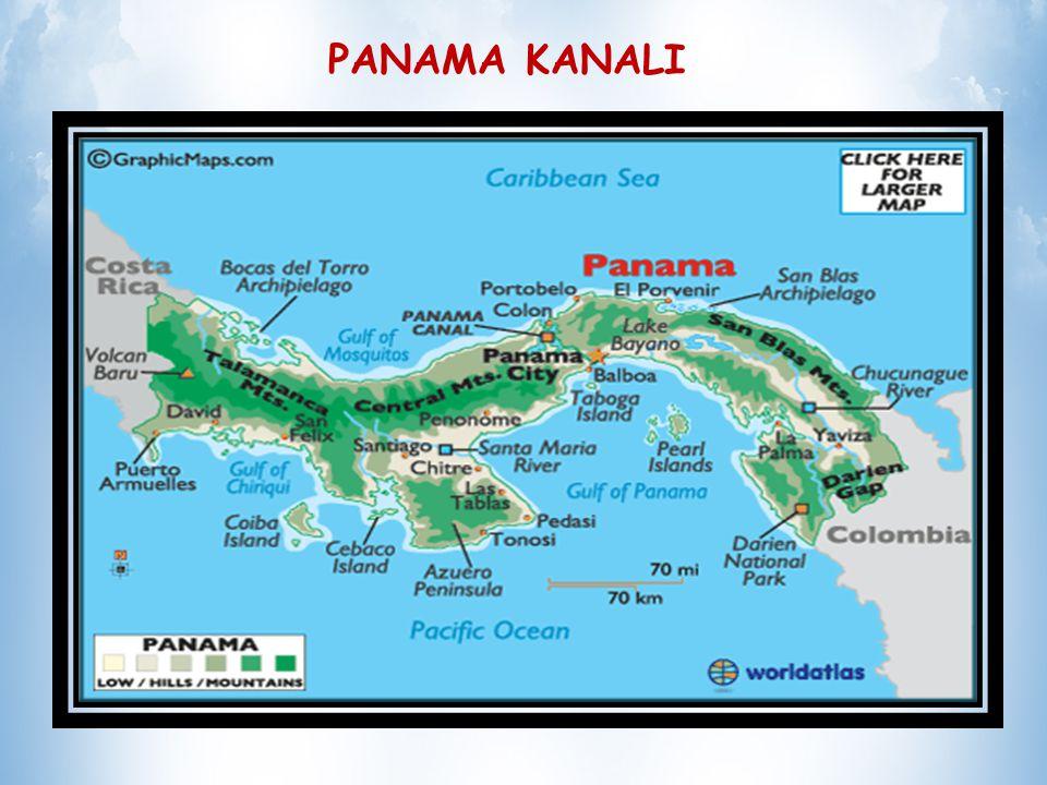 PANAMA KANALI Gemicilik üzerindeki etkileri ise, Güney Amerika kıtasının en güney ucu olan Horn Burnu ndan dolaşma külfetini ortadan kaldırmış olması nedeniyle çok önemlidir Panama kanalı dünyanın mühendislik harikasıdır ve en pahalı kanalıdır.
