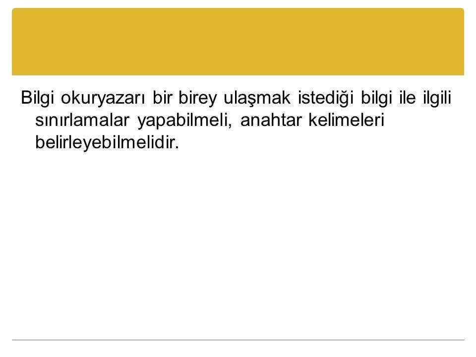 Kaynakça Akkoyunlu, B.(2008). Bilgi Okuryazarlığı Ve Yaşam Boyu Öğrenme.
