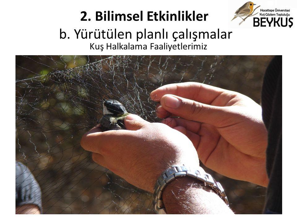 Kuş Halkalama Faaliyetlerimiz
