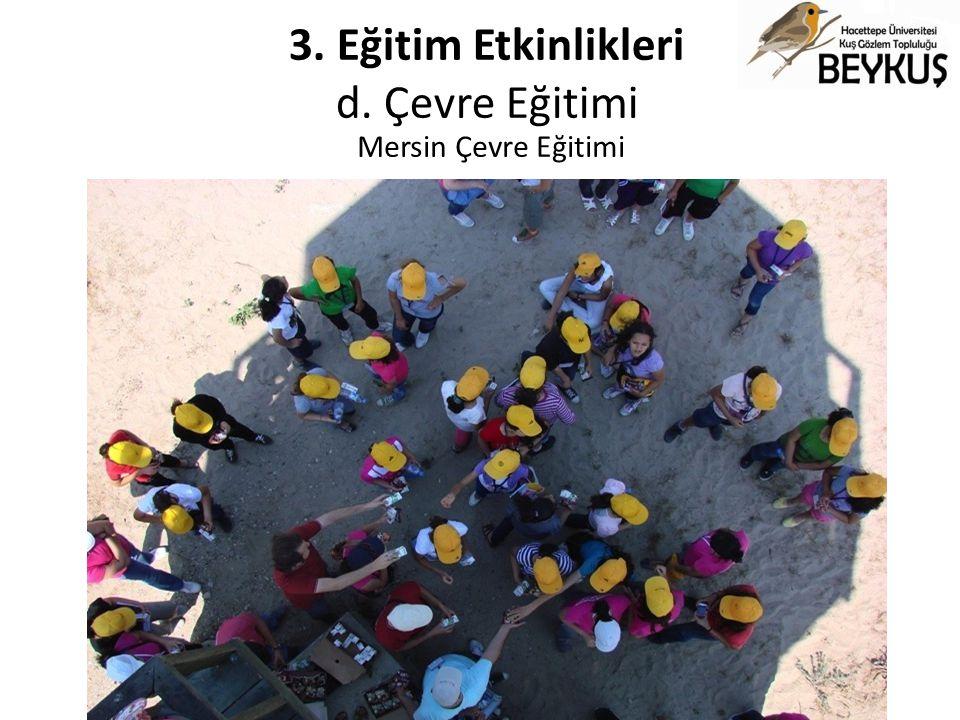 3. Eğitim Etkinlikleri d. Çevre Eğitimi Mersin Çevre Eğitimi