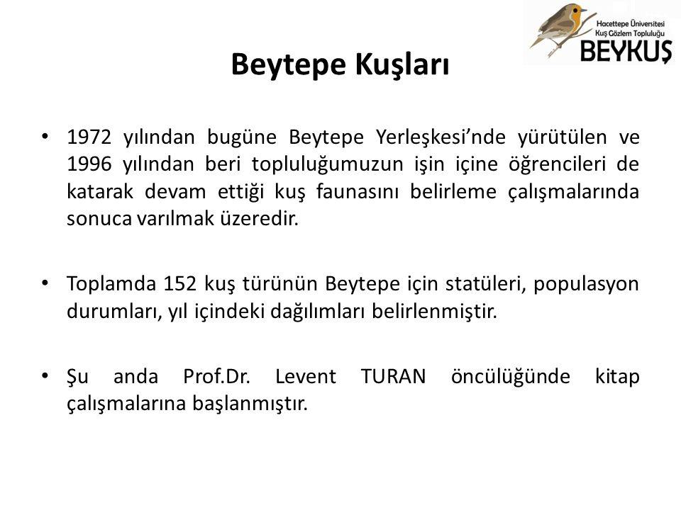 Beytepe Kuşları 1972 yılından bugüne Beytepe Yerleşkesi'nde yürütülen ve 1996 yılından beri topluluğumuzun işin içine öğrencileri de katarak devam ett