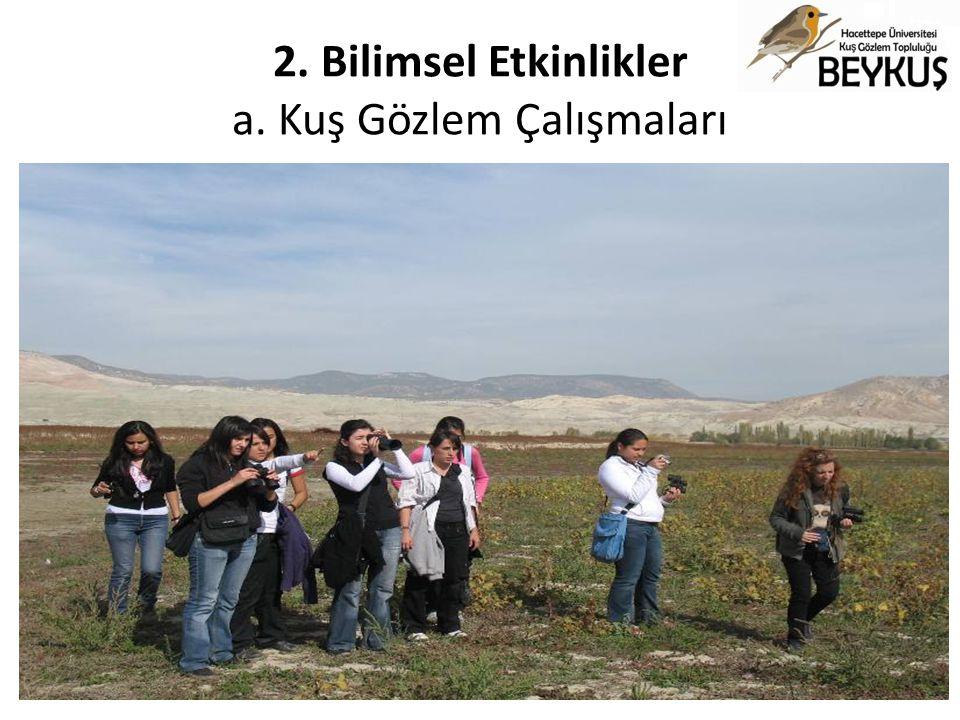 2. Bilimsel Etkinlikler a. Kuş Gözlem Çalışmaları Nallıhan Kuş Cenneti Kuş Gözlem Çalışması