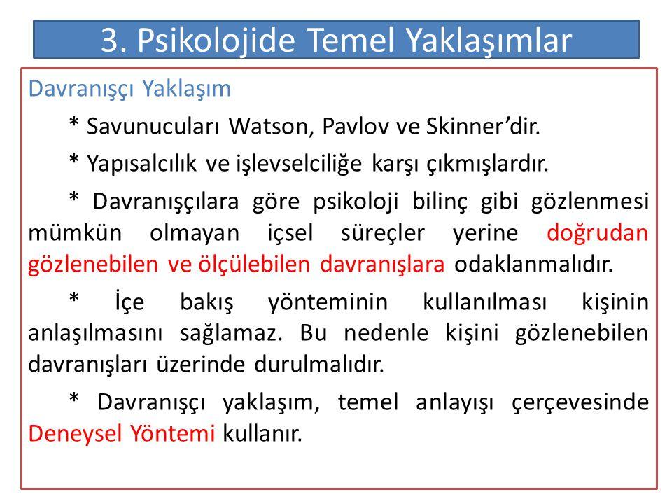 f) Eğitim Psikolojisi * Eğitim psikolojisi iki farklı alt gruptan oluşmaktadır.