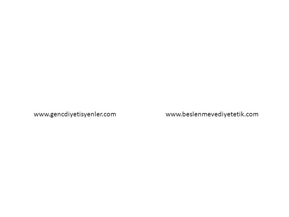 www.gencdiyetisyenler.comwww.beslenmevediyetetik.com
