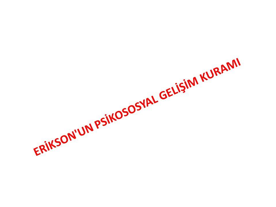 ERİKSON'UN PSİKOSOSYAL GELİŞİM KURAMI
