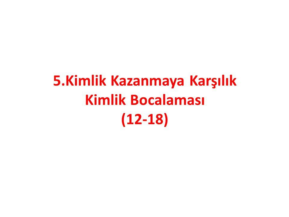 5.Kimlik Kazanmaya Karşılık Kimlik Bocalaması (12-18)